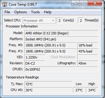 мониторинг температуры процессора