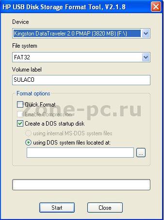 программа для форматирования флешек